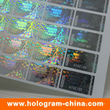 Tamper Evident Security Transparent Serial Number Hologram Sticker