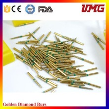 Suprimentos de laboratório dental Golden Diamond Burs