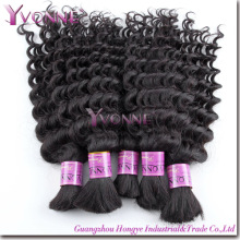 Bulbo do cabelo Remy brasileiro da forma, volume humano do cabelo (HT2-HD-BH3A-DW)
