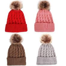 2016 moda malha de malha de lã Hat Cap Beanie