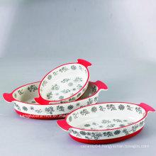 Hand Painting Glazed Ceramic Bakeware