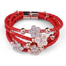 NH00777 Fashion magnetic clasp cowhide bracelet