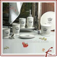 Mais vendidos porcelana porcelana cerâmica banheiro Set produtos de banho