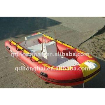 Courses de bateau RIB380 bateau gonflable avec plancher en fibre de verre