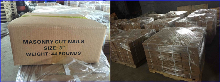 Cut masonry nails shipment