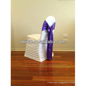 Decorative satin chair sash for banquet