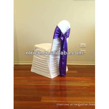 Faixa decorativa cadeira cetim para banquete