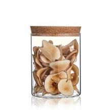 LOGO Custom huge air tight glass jar with cork lid jar glass 100ml