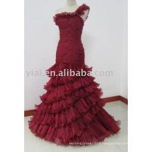 EDQ164 Новые поступления винно-Красный шифон Пром платье 2014
