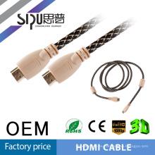 SIPUO cable HDMI a HDMI, oro plateado de 3 pies, 5 pies, 10 pies, 15 pies, 20 pies, 30 pies, la ayuda máxima 4K