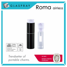 ROMA Twist up TUA 15ml Botella de la bomba de la loción Airless recargable
