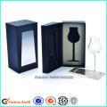 Coffrets cadeaux d'emballage en verre vineux en deux parties