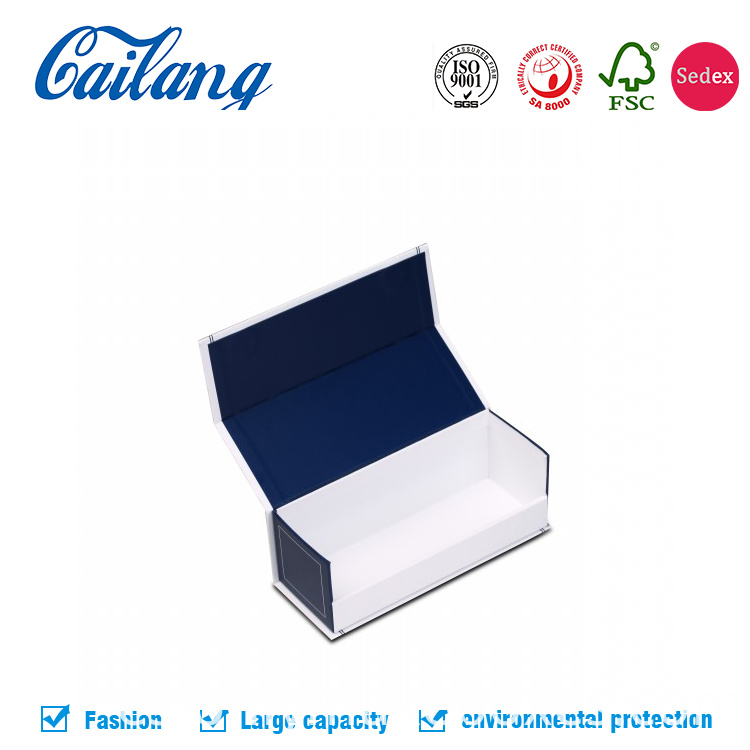 matt blue collapsible paper box for candle