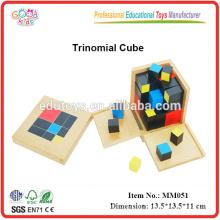 Montessori pädagogisches Spielzeug Trinomial Cube