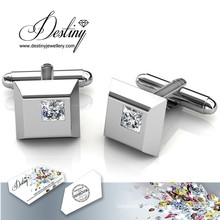 Destiny jewellery Crystal From Swarovski Square Cufflinks