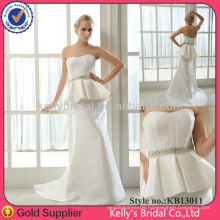 online simple style crystal floor length off the shoulder satin simple wedding dresses