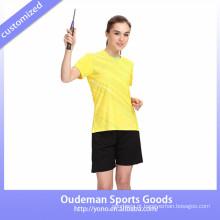 2017 Sublimada badminton mulheres uniformes de alta qualidade badminton conjunto barato badminton uniforme