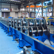 Steel floor deck roller machine