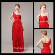 8075 One shoulder chiffon turkish evening dresses china cheap evening dresses for pregnant women