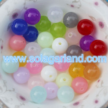 6-8MM Acrylic Plastic Translucence Round Beads Candy Color Round Chunky Ball Beads