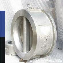 Wcb / CF8 / CF8m Válvula de retención de oblea de doble placa de tipo oblea