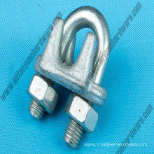 Clip de serrage de câble métallique forgé
