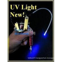 LED Tattoo Black UV Work Light Machine Gun Mount Blacklight,UV LED LIGHT for Tattoo Machine Adjustable Supply,UV light