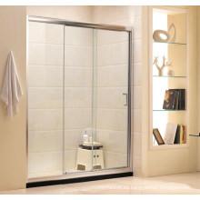 Baño de hardware puerta corredera de ducha de vidrio templado claro (G11)