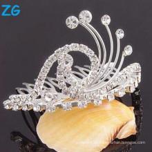 Peines nupciales cristalinos del pelo de la alta calidad, peines baratos del pelo, peine de la diapositiva del pelo de la boda
