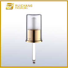 Aluminium cosmetic dropper for bottles