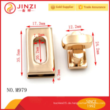 Jinzi Mode Metall Drehverschluss für Tasche Zubehör