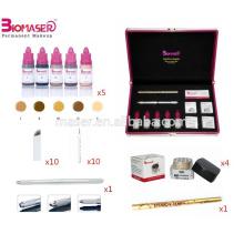 Heißer Verkauf Microblading u. Nebelhafter Augenbraue-Installationssatz, 3 in 1 halb Mikro-Schlag-Feder mit drei verschiedenen Kopf, Microblading Pigment