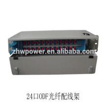 1U 24 port Type de tiroir Panneau de raccordement fibre optique ODF avec adaptateur fibre optique sc lc st fc
