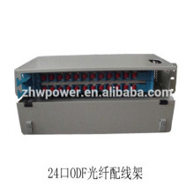 1U 24 port Drawer Type Fiber Optic Patch Panel ODF with sc lc st fc fiber optic adapter
