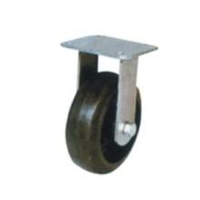 Rodízio fixo de borracha preta industrial (FC601)