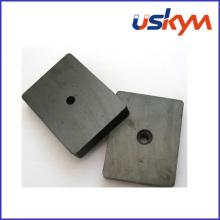 Y30bh cerámica o imán de bloque de ferrita con agujero (F-011)