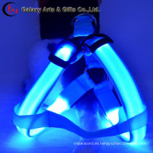 Custom Polyester LED Flash Lighting Pet Leashes Collar y arnés del perro de productos para perros de Pet Supply