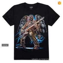 Y-100209 Camiseta de la guitarra de la música 3d Metal del remiendo del remolino del metal Luminoso