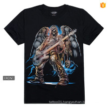 Y-100209 Music Guitar T-shirt 3d Pattern Metal Rivet sleeve Luminous