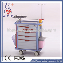 China supplier new design stainless steel surgical instrument trolley