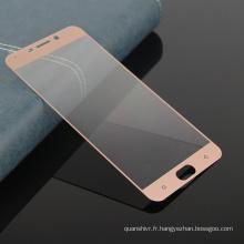 prix direct usine de shenzhen, protecteur de protection d'écran en verre trempé pour téléphone mobile de couverture totale pour OPPO R9 / R9s