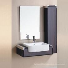 2015 Melamina nuevo gabinete de baño de diseño con espejo