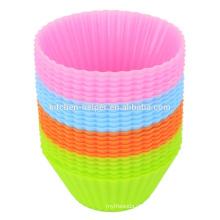 Hochwertige preiswerte BPA freie flexible Non-stick weiche Kuchen-Entwürfe Silikon-Muffin-Backen-Schalen, Silikon-Backen-Wannen-Muffin-Schale