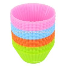 Высокое качество Дешевые BPA бесплатно гибкие антипригарные мягкие Cupcake образцов силиконовые выпечки булочки, силиконовые выпечки Пан булочки сдобы