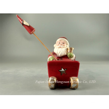 LED Lighted Ceramic Crafts for Christams, Santa Claus for Christmas Decoration