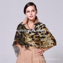 Leopardo impresso pura lã senhora lenço