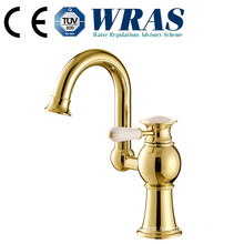 bathroom brass gold faucet