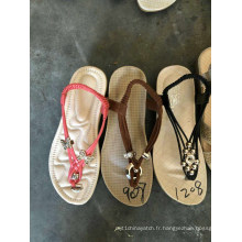 Sandales Flip Flops Slipper Femmes Dames Handwork Handcraft TPR Chaussures