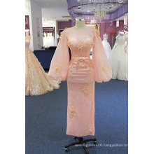 Pink Sequin Lace Long Sleeve Evening Prom Cocktail Party Dresses
