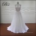 Vestido de novia de abalorios y cristales a-line